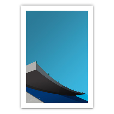 Exhibition Stadium Minimalist Ballpark Collection 14 x 20 Fine Art Print by artist S. Preston