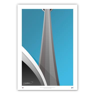 Rogers Centre Minimalist Ballpark Collection 14 x 20 Fine Art Print by artist S. Preston