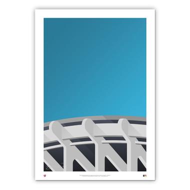 RFK Stadium Minimalist Ballpark Collection 14 x 20 Fine Art Print by artist S. Preston