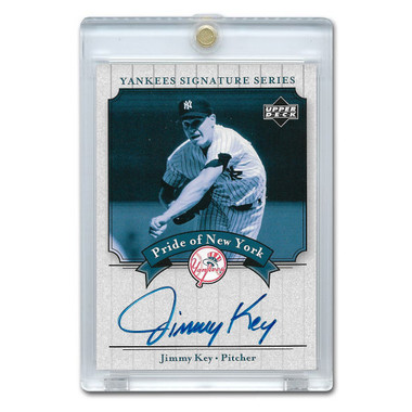 Jimmy Key Autographed Card 2003 Upper Deck Yankees Signature Series #PN-KE
