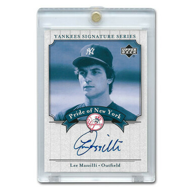 Lee Mazzilli Autographed Card 2003 Upper Deck Yankees Signature Series #PN-LM