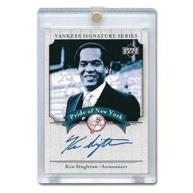 Ken Singleton Autographed Card 2003 Upper Deck Yankees Signature Series #PN-KS