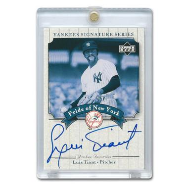 Luis Tiant Autographed Card 2003 Upper Deck Yankees Signature Series #PN-LT