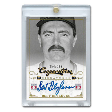 Bert Blyleven Autographed Card 2012 Panini Cooperstown Ltd Ed of 399