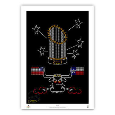 Houston Astros 2017 Minimalist World Series Collection 14 x 20 Fine Art Print by artist S. Preston - Ltd Ed of 350