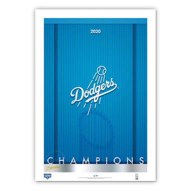 Los Angeles Dodgers #1 2020 Minimalist World Series Collection 14 x 20 Fine Art Print by artist S. Preston - Ltd Ed of 350