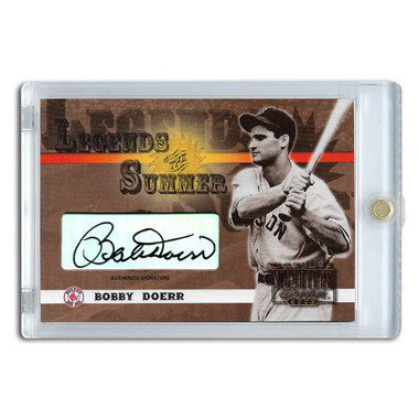 Bobby Doerr Autographed Card 2003 Donruss Signature Legends of Summer # LS-8