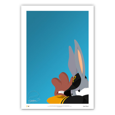 Pittsburgh Pirates Baseball Bugs Minimalist Looney Tunes Collection 14 x 20 Fine Art Print by artist S. Preston - Ltd Ed of 100