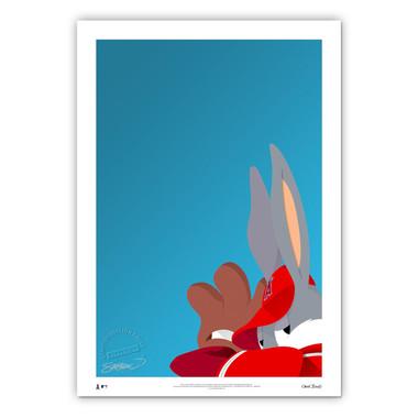 Los Angeles Angels Baseball Bugs Minimalist Looney Tunes Collection 14 x 20 Fine Art Print by artist S. Preston - Ltd Ed of 100