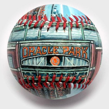 Oracle Park Unforgettaballs Limited Commemorative Baseball with Lucite Gift Box