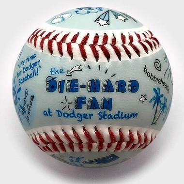 Die-Hard Fan at Dodger Stadium Unforgettaballs Limited Commemorative Baseball with Lucite Gift Box