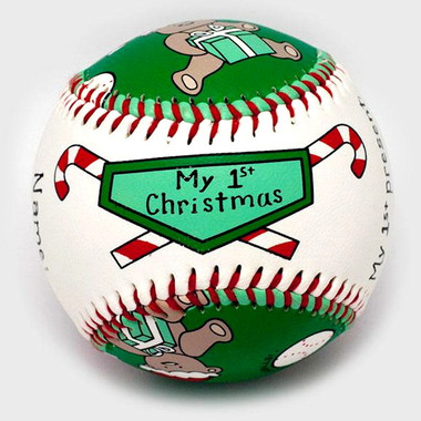 Baby's 1st Christmas Unforgettaballs Commemorative Baseball with Lucite Gift Box