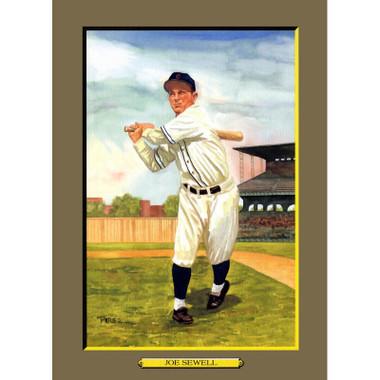 Joe Sewell Perez-Steele Hall of Fame Great Moments Limited Edition Jumbo Postcard # 68