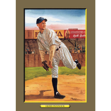 Herb Pennock Perez-Steele Hall of Fame Great Moments Limited Edition Jumbo Postcard # 54