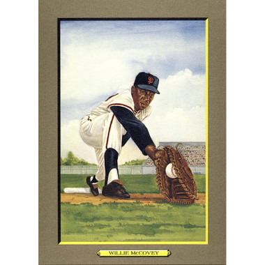Willie McCovey Perez-Steele Hall of Fame Great Moments Limited Edition Jumbo Postcard # 22