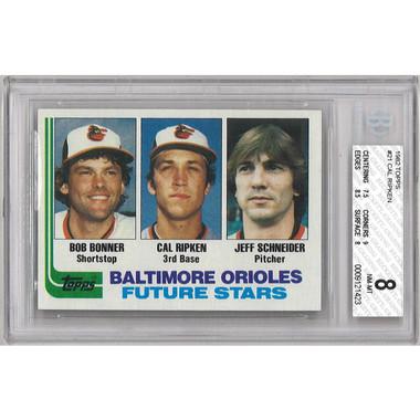Cal Ripken Jr. Baltimore Orioles 1982 Topps # 21 (BGS 8)