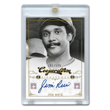 Jim Rice Autographed Card 2012 Panini Cooperstown Ltd Ed of 599