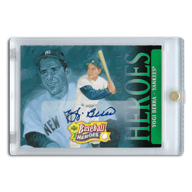 Yogi Berra Autographed Card 2005 Upper Deck Heroes #100 Lt Ed of 99