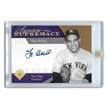 Yogi Berra Autographed Card 2005 Ultimate Signature Edition Signature Supremacy Ltd Ed of 25