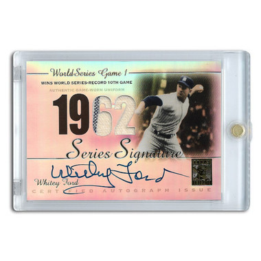 Whitey Ford Autographed Card 2003 Topps Tribute World Series Edition # SSA-WF