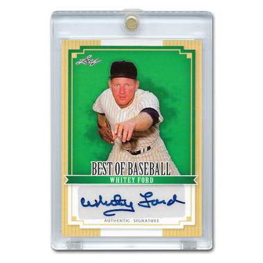 Whitey Ford Autographed Card 2012 Leaf Baseball's Best # BA-WF1