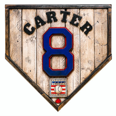 Gary Carter Hall of Fame Vintage Distressed Wood 17 Inch Legacy Home Plate Ltd Ed of 250 (Montreal)