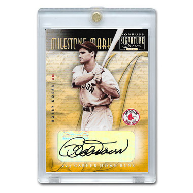 Bobby Doerr Autographed Card 2001 Donruss Signature Milestone Marks Ltd Ed of 192