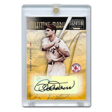 Bobby Doerr Autographed Card 2001 Donruss Signature Milestone Marks Ltd Ed of 192