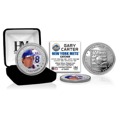 Highland Mint Gary Carter New York Mets Hall of Fame Silver Photo Coin