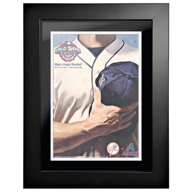 2001 World Series Program Cover 18 x 14 Framed Print