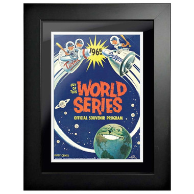 1965 World Series Program Cover 18 x 14 Framed Print