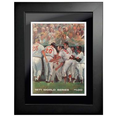 1971 World Series Program Cover 18 x 14 Framed Print #1