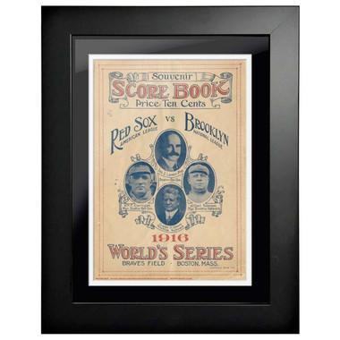 1916 World Series Program Cover 18 x 14 Framed Print # 1