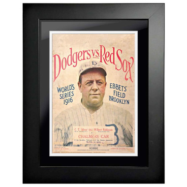 1916 World Series Program Cover 18 x 14 Framed Print # 2