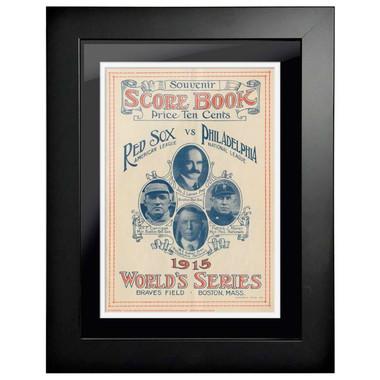 1915 World Series Program Cover 18 x 14 Framed Print #1
