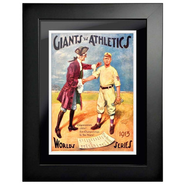 1913 World Series Program Cover 18 x 14 Framed Print