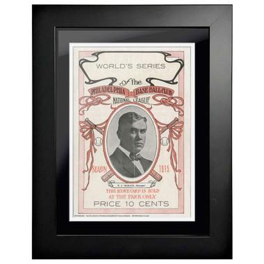 1915 World Series Program Cover 18 x 14 Framed Print #2
