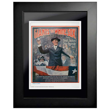 1917 World Series Program Cover 18 x 14 Framed Print