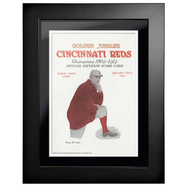 1919 World Series Program Cover 18 x 14 Framed Print