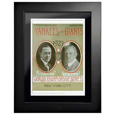 1923 World Series Program Cover 18 x 14 Framed Print