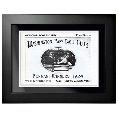 1924 World Series Program Cover 18 x 14 Framed Print