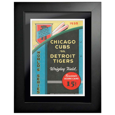 1935 World Series Program Cover 18 x 14 Framed Print