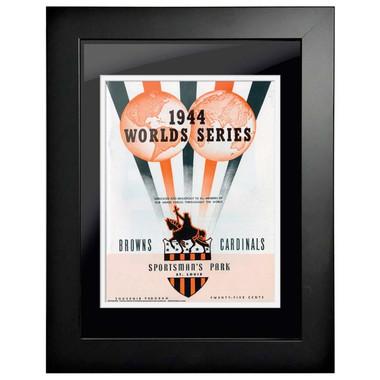 1944 World Series Program Cover 18 x 14 Framed Print