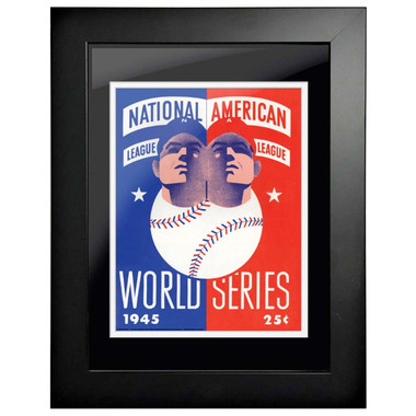 1945 World Series Program Cover 18 x 14 Framed Print