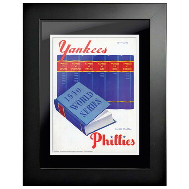 1950 World Series Program Cover 18 x 14 Framed Print