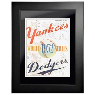 1952 World Series Program Cover 18 x 14 Framed Print