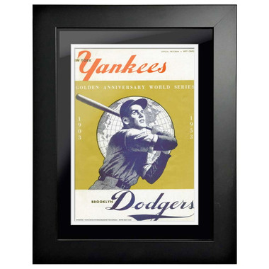 1953 World Series Program Cover 18 x 14 Framed Print