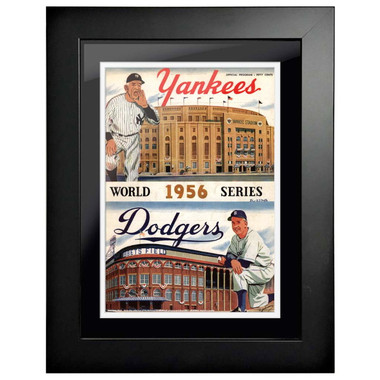 1956 World Series Program Cover 18 x 14 Framed Print