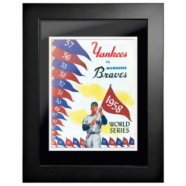 1958 World Series Program Cover 18 x 14 Framed Print