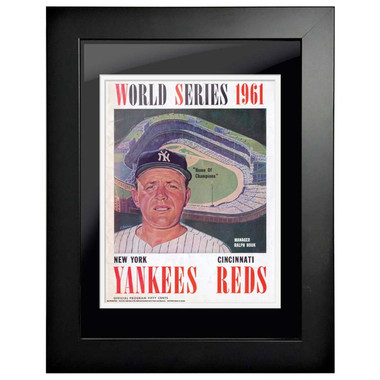 1961 World Series Program Cover 18 x 14 Framed Print